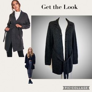 2for$30 Fuzzy Belted Long Cardigan Sweater